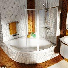 Шторка кутова для ванної