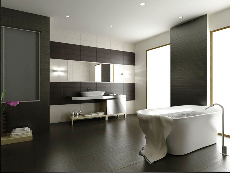 Ванна кімната в стилі хай тек: особливості оздоблення