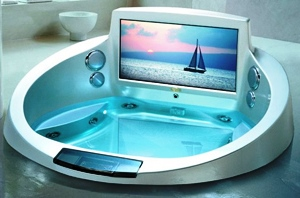 Ексклюзивний телевізор у корпусі акрилової ванни