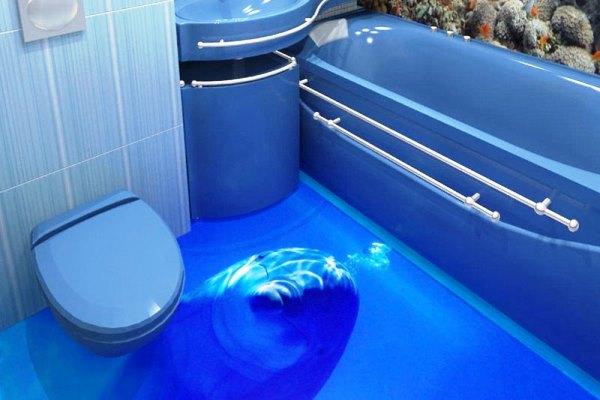 Один з варіантів оформлення 3D підлоги