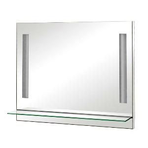 Настінне дзеркальце з поличкою - відмінно впишеться у дизайн невеликої ванної кімнати
