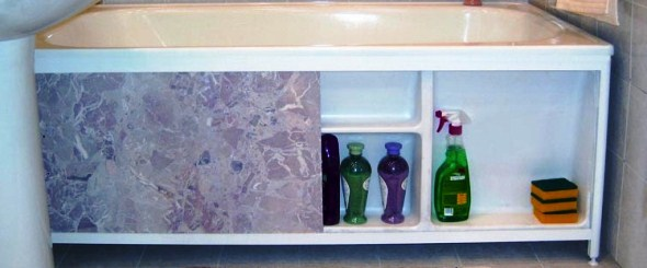 Екран для ванної з ПВХ панелей