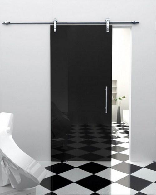 Розсувні двері зі скла виглядають досить стильно