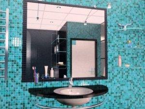 Вбудоване у стіну дзеркало для ванної кімнати