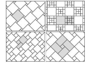 Для розрахунку плитки зі складною кладкою - бажано зобразити малюнок на папері у маштабі