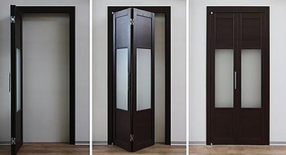 Так виглядають двосекційні розсувні двері-книжка