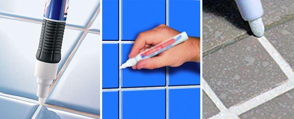 Суть методу в тому, що потрібно купити спеціальний маркер потрібного кольору, який призначений для поновлення швів між плиткою