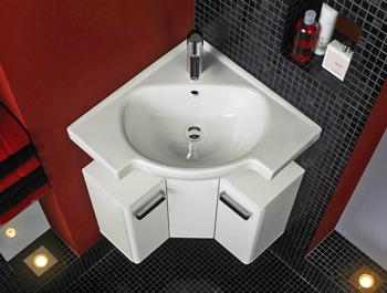 Кутові раковини для ванної кімнати