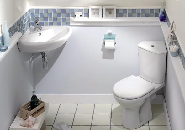 Кутова раковина відмінно впишеться у інтер'єр невеликої ванної кімнати
