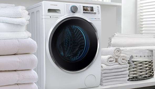 Існують також пральні машини з великим об'ємом завантаженням, наприклад 12 літрів