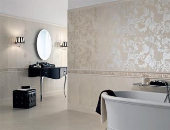 Італійська плитка для ванної кімнати: яка вона, її переваги та властивості