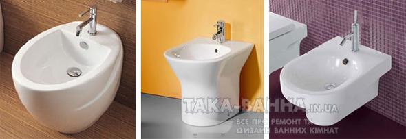 За типом монтажу сантехніка поділяється на підлогову, навісну і окремостоячу