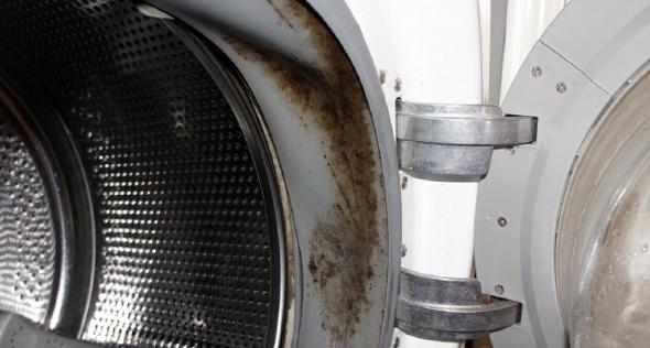 Забруднене ущільнювальне гумове кільце навколо люка - найчастіша причина появи неприємного запаху з пральної машини