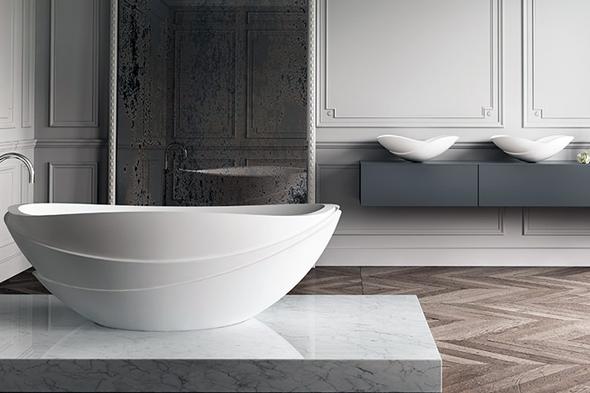 Кругла ванна - це не лишефункціональний сантехнічний прилад, але і неймовірно красивий предмет інтер'єру. Її однієї досить для того, щоб перетворити ванну кімнату і створити відчуття розкоші