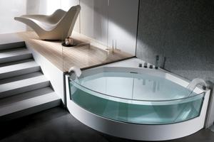 Скляна ванна: поєднання стилю та практичності