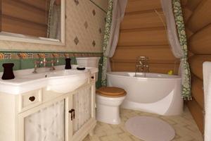 Ванна кімната у дерев'яному будинку: нюанси та дизайн