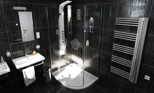 Ванна в чорному кольорі - це люксова класика, яка виглядає дуже розкішно, особливо, якщо поєднувати чорний з золотом, сріблом або іншим металиком