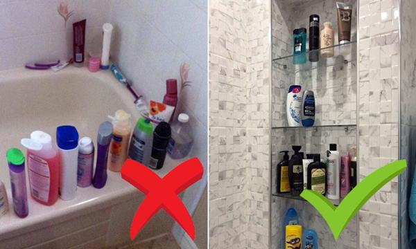 Все необхідне для ванних процедур - потрібно ставити на полицю