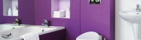 Фіолетова ванна кімната – стильно й актуально (фото)